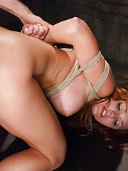 Gorgeous model turned into rough sex anal whore!