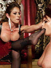 Ashley Graham hires Felony a local dominatrix to punish her while giving her her first lesbian kinky sex experience!