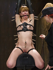 Claire Robbins submits like never before in cruel metal bondage predicaments, pain games, relentless sybian orgasms, and cruel Domination by Mz Berlin
