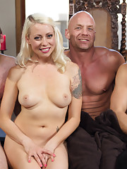 Lorelei Lee pits 3 slaveboys against each other and the last man standing gets to fuck her but even he pays a hefty price in the end!