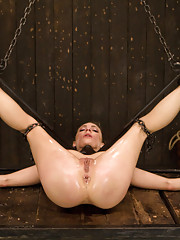 Shy pretty blue eyed Bailey signs up for a day on Device & gets exactly what she asked for. Contorted painful bondage, pain & uncontrollable orgasms.