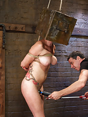Anal Whore Audrey Hollander takes on the training gimp