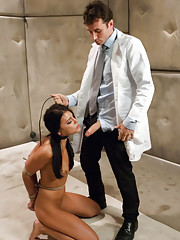Rough sex and bondage medical role play.