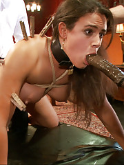 When Smart Ass Slave Girl Penny Barber arrives, she is fucked in the ass till she learns that Discipline, Duty and Dick rule the Upper Floor