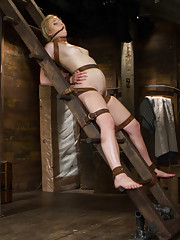 Tracey is fascinated with bdsm, wanting her limits maxed out. She is taken through a day of harsh ladder bondage and a bonus BRUTAL bondage scene!