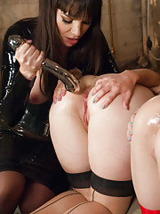 Latex Girls and Extreme Anal Fetish! Double anal Fisting and Gaping!