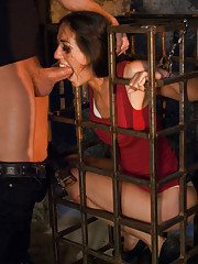 Intense rough anal sex and cruel bondage role play!