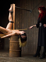 Amazon goddess gets taken down a peg by sadistic Mz Berlin. She proves who is on top with an intense fisting, harsh corporal and unforgiving bondage.