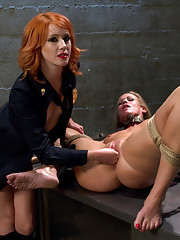 Rookie cop, Elle Alexander punishes and DP