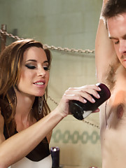Mistress Gia Dimarco fucks new meat in the ass while he