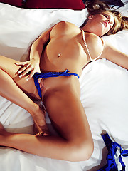 A beautiful blonde and curvaceous coed, Kristin Jackson has graduated to full-fledged sexy!�