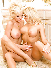 When you put two sexy blonde bombshells together sparks are sure to ignite.�