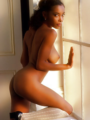 """We all know the saying. But what is it about stunning black women -- such as Miss June 1980 Ola Ray, Miss February 1982 Anne-Marie Fox and Miss November 1989 Reneé Tenison -- that provides an extra erotic charge? """"Af�"""