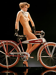 One from the Playboy vault: A never-before-seen pictorial featuring classic Playmates with vintage bikes, shot in 1984.�
