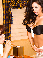 These two buxom brunettes are guaranteed to cure whatever ails you.�