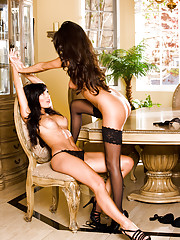 Anna Lynn and Jessica Erin Sylvia prove that two sexy svelte, stunning brunettes are better than one.…