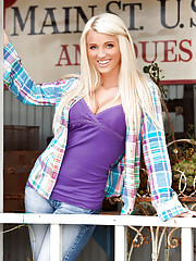"""""""While it may be hard to fathom now, Miss September Olivia Paige was once a tomboy. """"""""I rode four-wheelers and go-karts, and I loved to play in the mud,"""""""" she says about her childhood, which was spent in the farming ham�"""""""