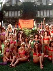20 Playmates stretch their muscles and our credulity in three days of hot competition. Playmates gathered at Playboy Mansion West for a three-day extravaganza video-taped for broadcast on The Playboy Channel. These g�
