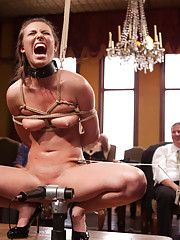 When Anal Slut Casey Calvert petitions the House, she us fucked in all holes in hot Boy / Girl / Girl anal action.