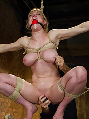 When gorgeous rope slut Darling comes to Hogtied, she gets multiple squirting orgasms in tight bondage