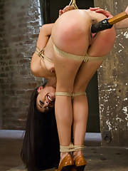 When rope slut Lyla Storm comes to HogTied, she gets to show off her flexibility and we show off her gushing cunt.