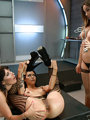 Beautiful sluts get dominated with anal toys and fist by sexy mistress!