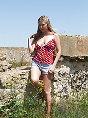 Hirsute model Riana S loves being outside for work