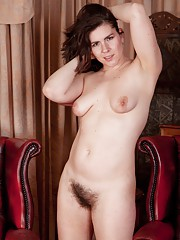 Hirsute model Sharlyn enjoys her new job