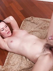 Veronica Snow Gives blowjob and has wild hairy sex