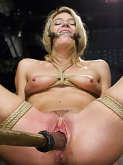 Beautiful Newbie Gets HogTied for the First Time on Kink.com!