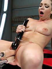 Sultry, sexy & oh so turned on! Crank the machines to high, pull out the big cocks & let Bailey Blue cum over & over from the pounding of a lifetime!