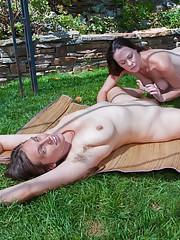 Veronica and friend share hot lesbian outdoor play