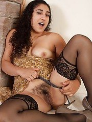 Stockings and heels and hairy Leila, oh my
