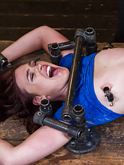 Extreme bondage with a brutal assault on this slut