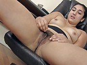 Leila is a horny and hairy boss