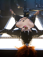 Latex slut is introduced to hard steel and leather for the first time.