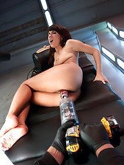 Big, fast machines, deep, pussy pounding & the relentless giggling approval of the horniest, softest tits good-time girl we