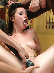 Meet Veruca: Attention whore and anal slut. See her fucked in front of a crowd. Her tight little holes get stuffed as she begs for more.
