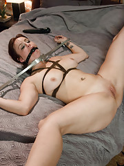 Husband makes wife fuck his girlfriend in bondage and rough anal sex!