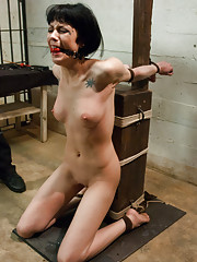 Asphyxia Noir bound and intense rough sex by prison guard!