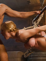 Darling sold as a sex slave and ass fucked in hard bondage!