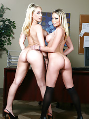 Kagney Linn Karter is not happy with her employee, James, so she calls him into her office to fire him. But when Kagney