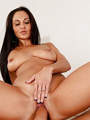 Sexy brunette housewife Ava Addams is horny and rides her husbands cock point of view.