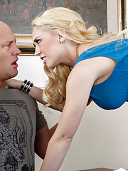 Sexy blonde Kagney Linn Karter loves the big hard cock