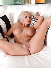 Busty blonde rides a big hard cock
