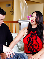 Mika Tan gets her tight asian pussy filled by a huge cock