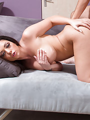 Busty brunette Melina Mason makes a married guy cheat on his wife to fuck her.