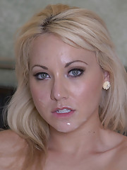 Sexy blonde babe gets fucked by her neighbor and orgasms loudly.