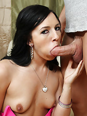 Hot brunette babe loves to get fucked by big cocks and ride them until she orgasms loudly.