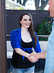 Gorgeous babe Tessa Lane decides to have hot sex with her big cocked neighbor.